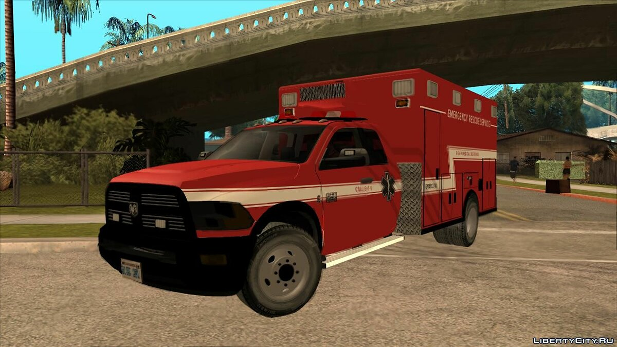 Dodge car Dodge Ram Rescue Ambulance for GTA San Andreas