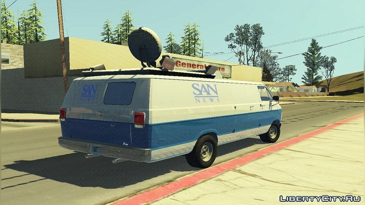Dodge car Dodge Ram Van 1989 - San News for GTA San Andreas