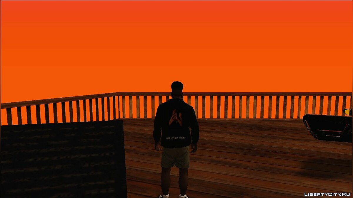 Pullovers and T-shirts Худи с рэпером 2Pac for GTA San Andreas