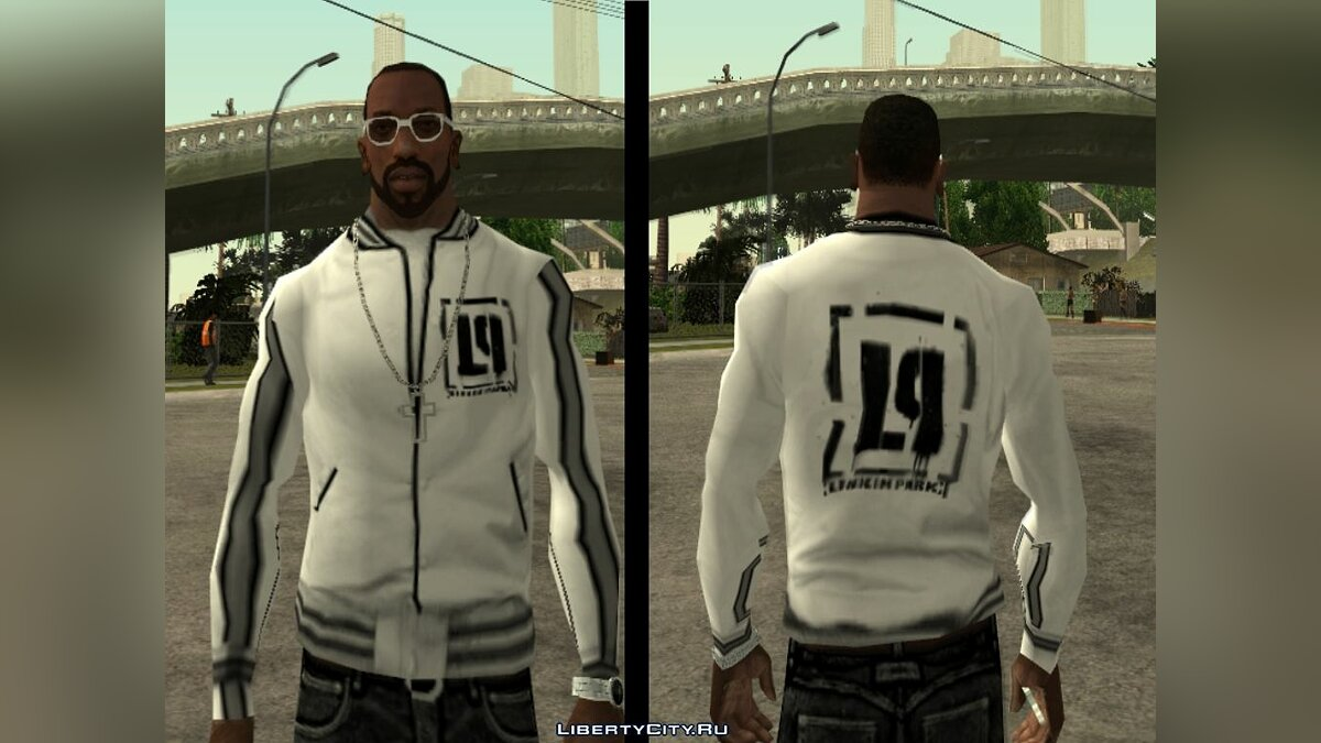 Pullovers and T-shirts Linkin Park sports jacket for GTA San Andreas
