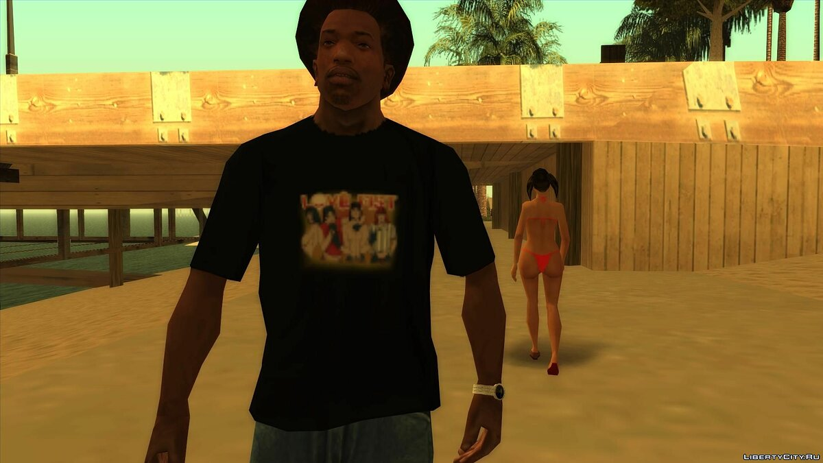 Pullovers and T-shirts Love fist t-shirt for GTA San Andreas
