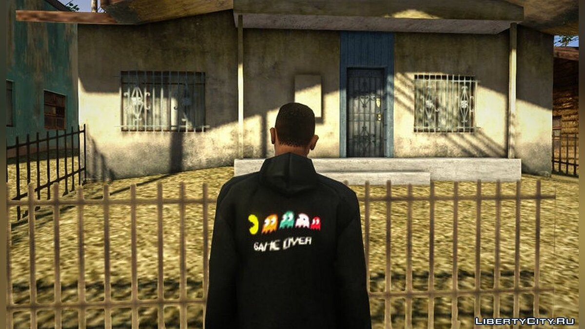 Pullovers and T-shirts Hoop with pakmen logo for GTA San Andreas