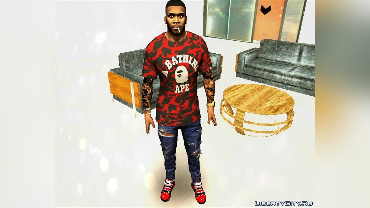 Pullovers and T-shirts Bape Garment Collection for Franklin for GTA San Andreas