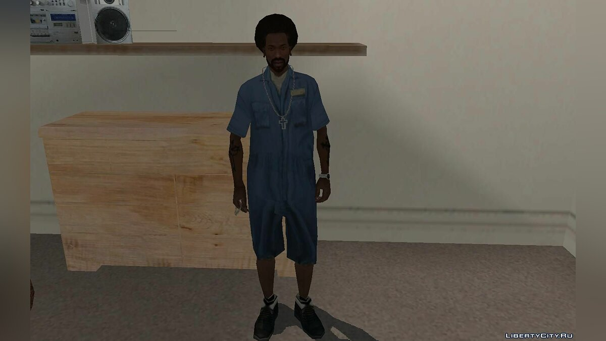Pullovers and T-shirts Dwayne Mechanic Suit - Clothing mechanics for the main character for GTA San Andreas