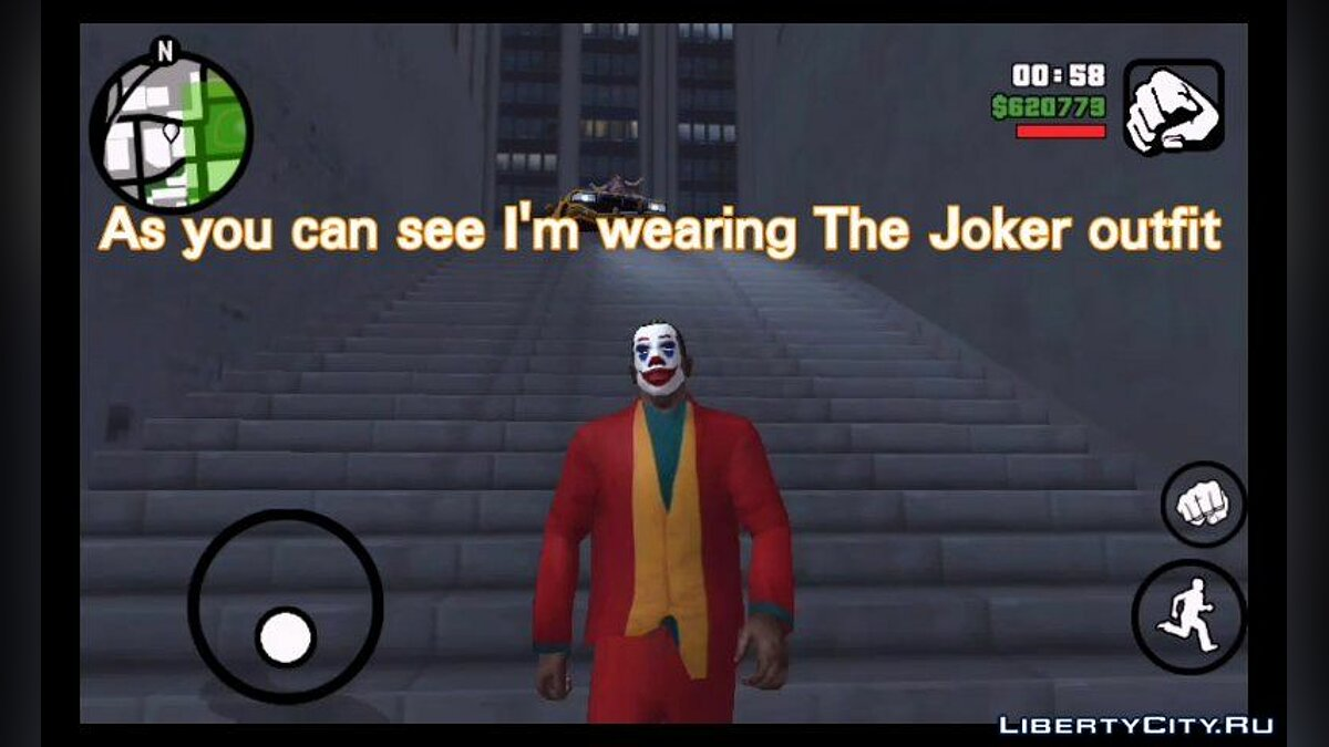 Pullovers and T-shirts Joker costume for GTA San Andreas