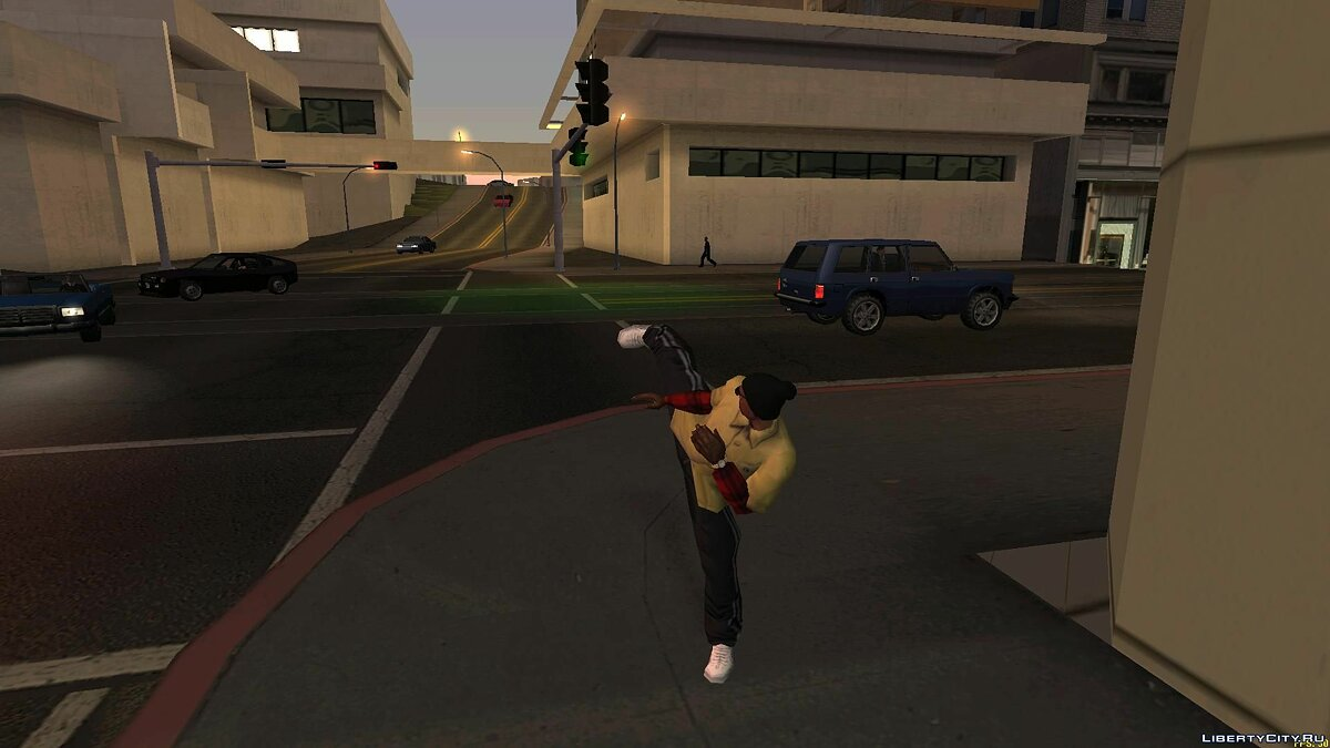 Pullovers and T-shirts Yellow shirt with red sleeves for GTA San Andreas
