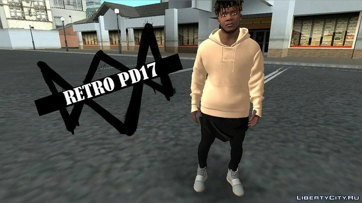 Pullovers and T-shirts Stylish jacket from the Supreme brand for Franklin for GTA San Andreas