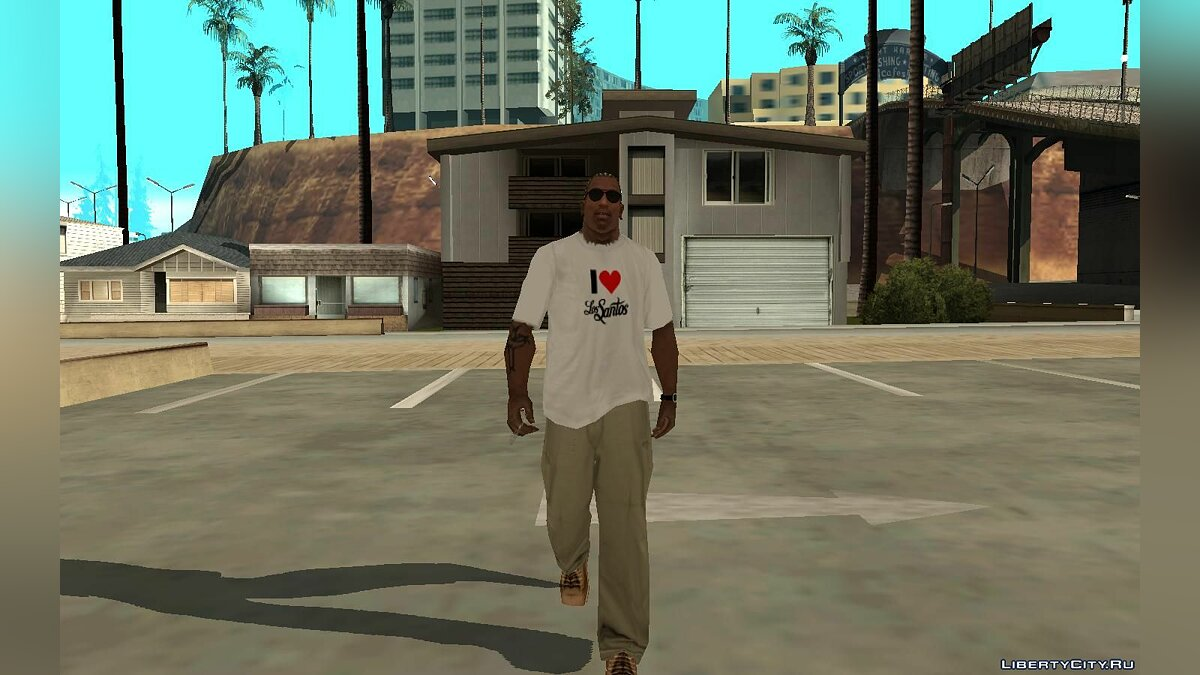 Pullovers and T-shirts Я люблю Лос Сантос for GTA San Andreas