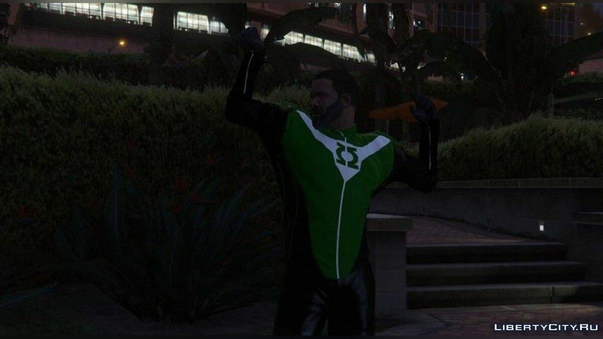 Pullovers and T-shirts Green Lantern Costume for Franklin for GTA San Andreas