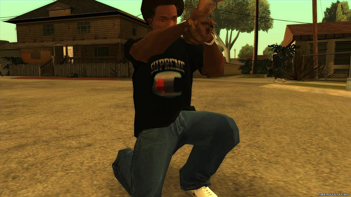 Pullovers and T-shirts Supreme Champion Chrome T-Shirt for GTA San Andreas