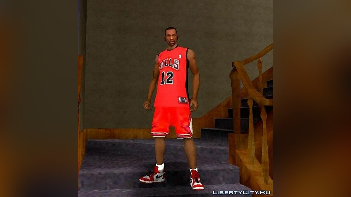 Pullovers and T-shirts Chicago Bulls Clothing for GTA San Andreas