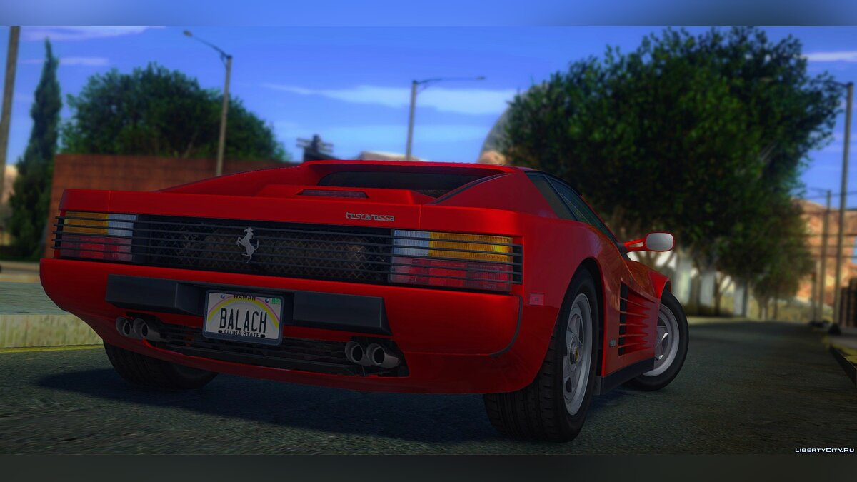 Ferrari Testarossa (US-Spec) 1987 for GTA San Andreas - screenshot #6