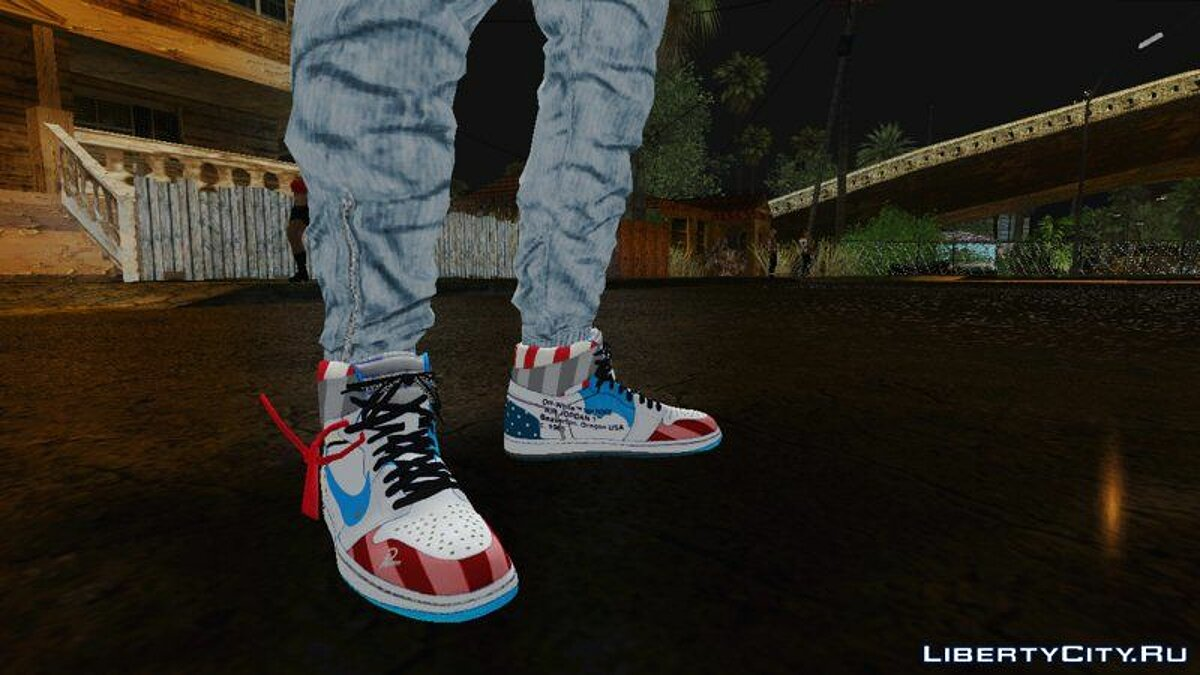 Boots Jordan 1 x Off White for GTA San Andreas