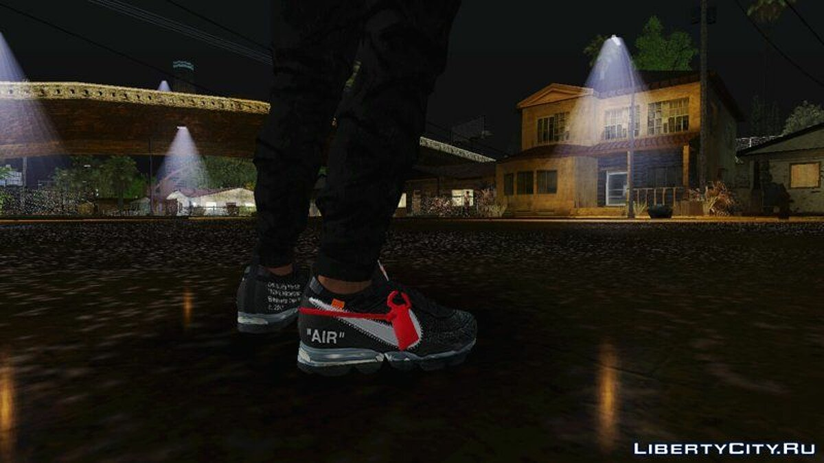 Boots Nike Vapormax x Off White for GTA San Andreas