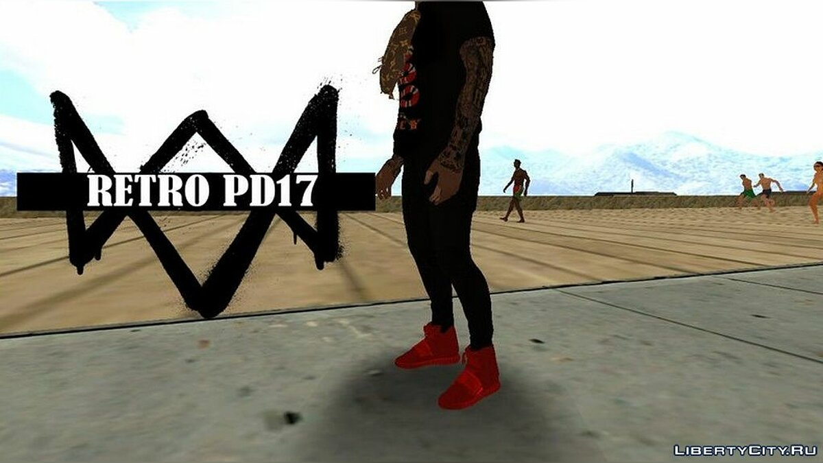 Boots Sneakers Yeezy 750 Boost for GTA San Andreas
