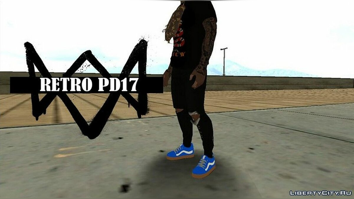 Boots Vans Syndicate Sneakers for Franklin for GTA San Andreas