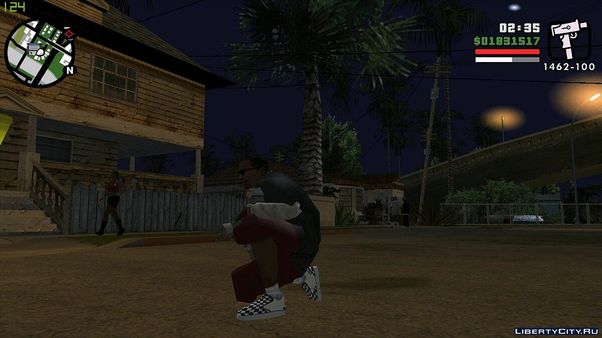 Boots Vans Slip-On Sneakers for GTA San Andreas