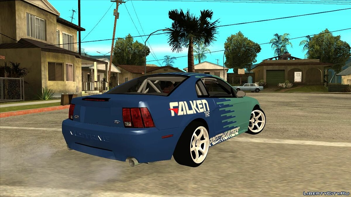 Ford car 1999 Ford Mustang Drift Falken for GTA San Andreas