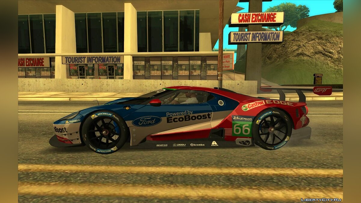 Ford car Ford GT Le Mans 2016-2019 for GTA San Andreas
