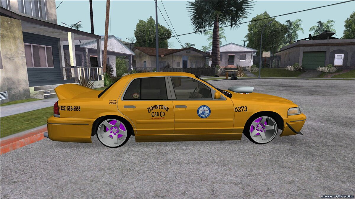 Ford car Ford Crown Victoria New York Taxi (Taxi Movie) for GTA San Andreas