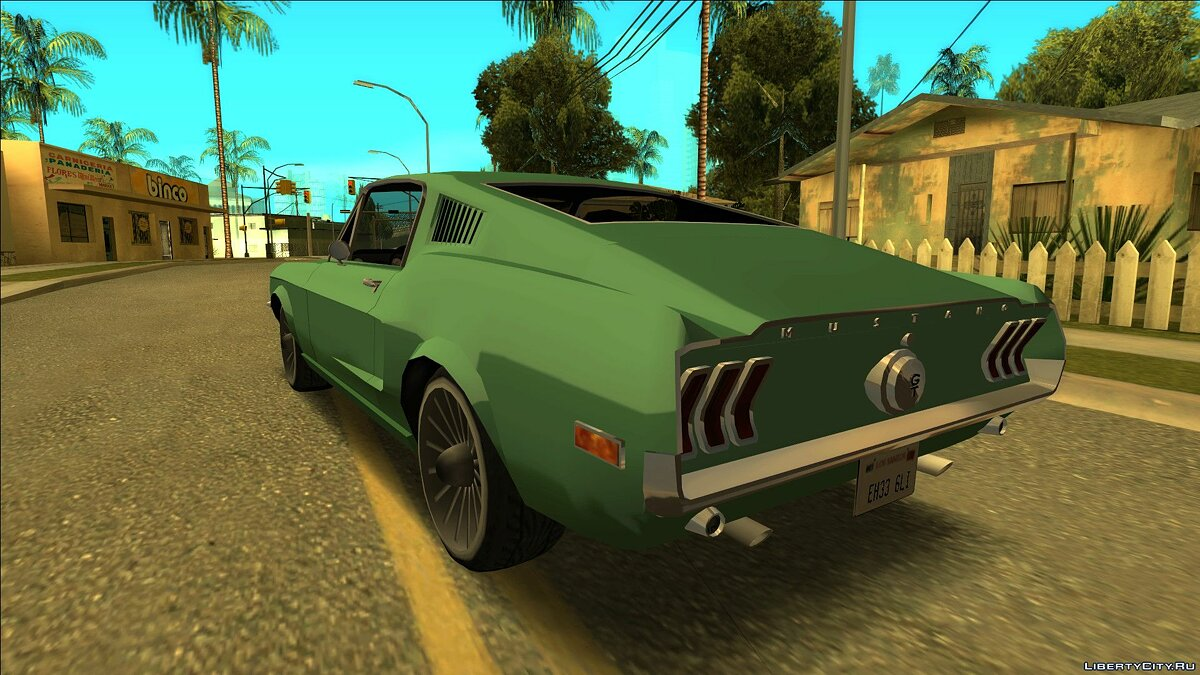 Ford car Mustang Fastback 1968 for GTA San Andreas