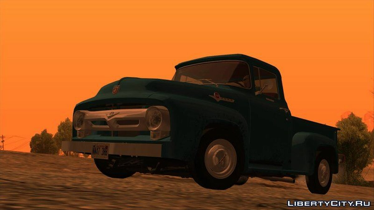Ford car Ford F-100 V8 1956 for GTA San Andreas