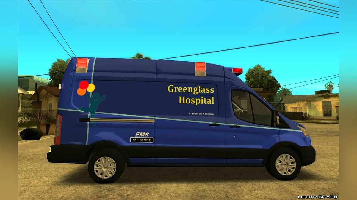 Ford car 2016 Ford Transit Ambulance for GTA San Andreas