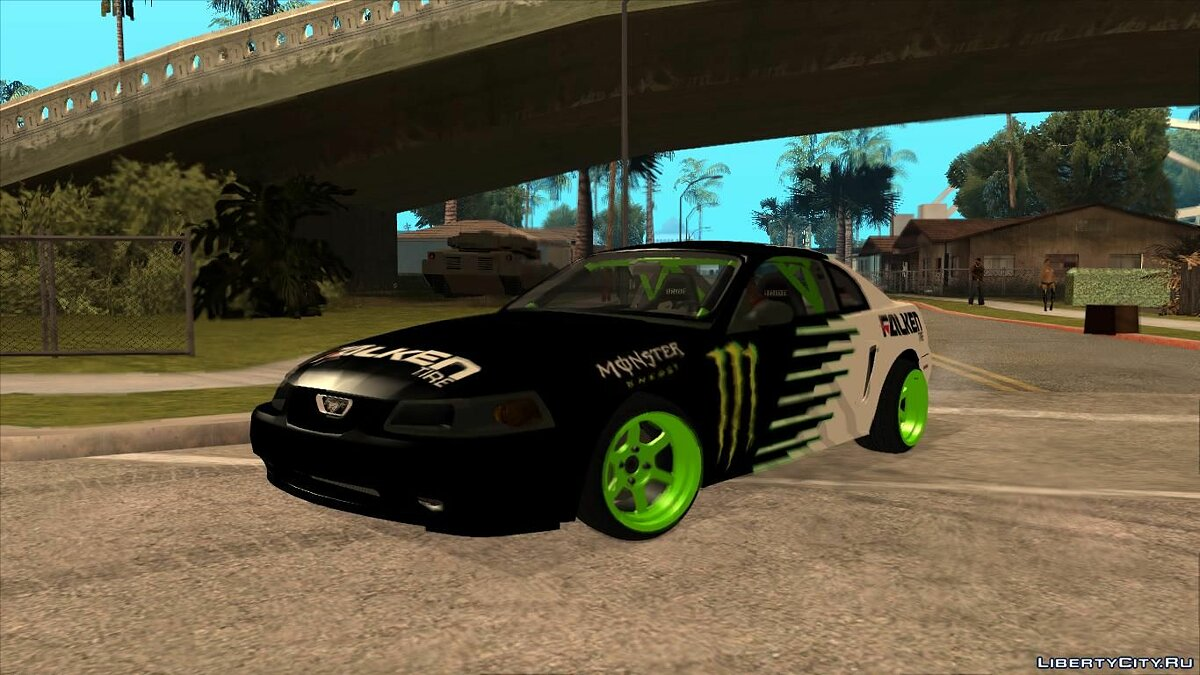 Ford car 1999 Ford Mustang Drift Monster Energy Falken for GTA San Andreas