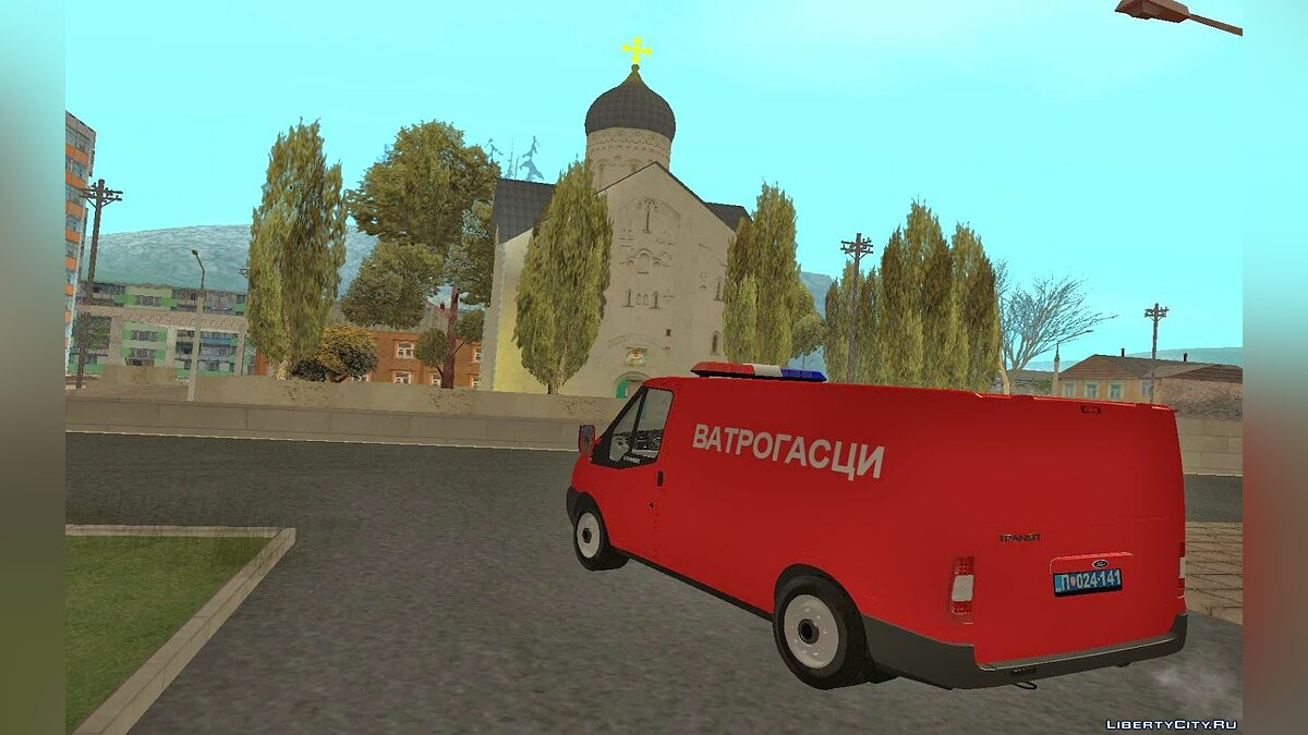 Ford car Ford Transit Vatrogasci for GTA San Andreas