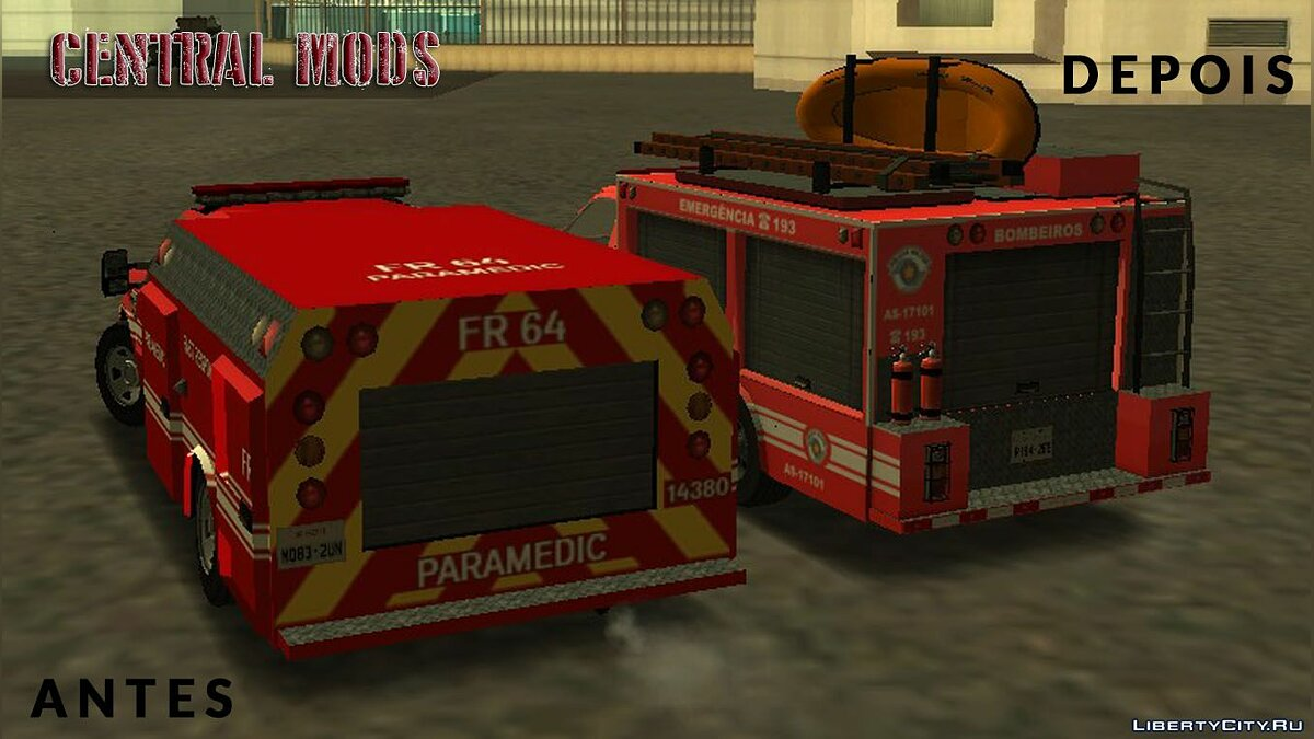Ford car Ford F4000 - Fire Department for GTA San Andreas