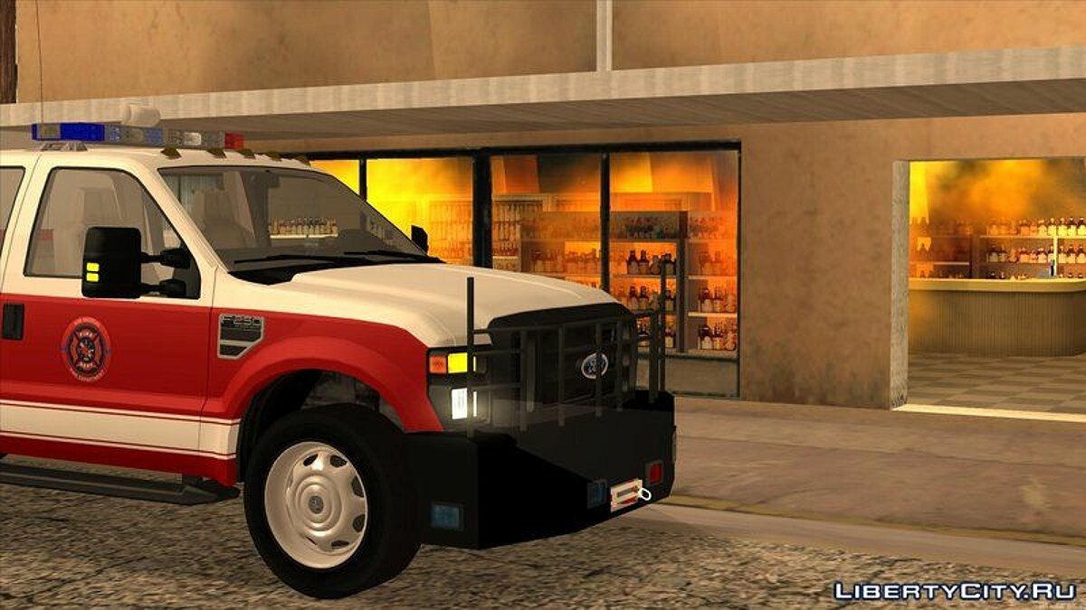 Ford car 2011 Ford F-250 San Andreas Fire Department for GTA San Andreas