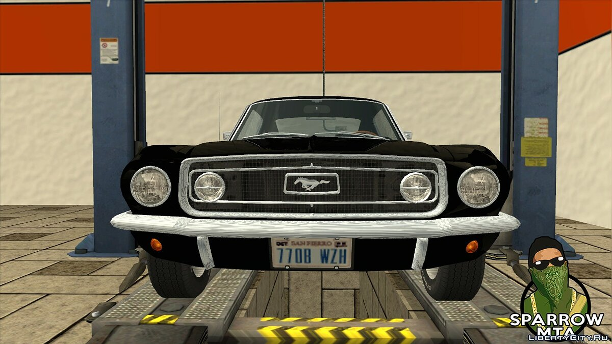 Ford car Ford Mustang GT Fastback 390 1968 for GTA San Andreas