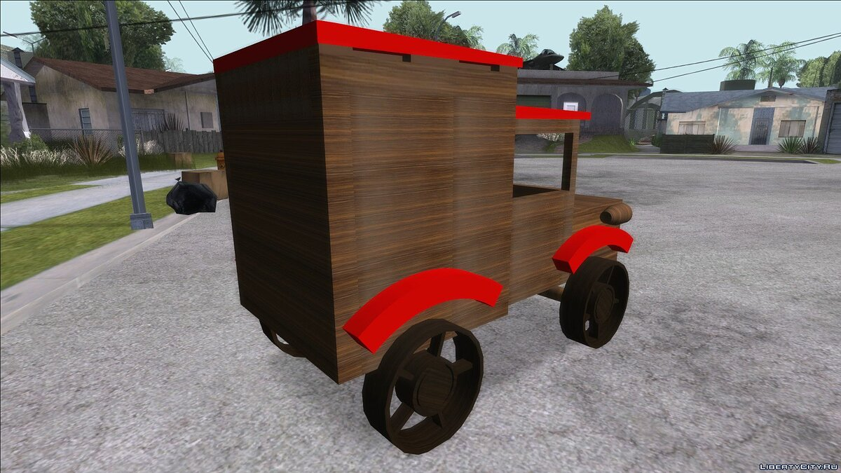 Funny car Wooden toy truck for GTA San Andreas