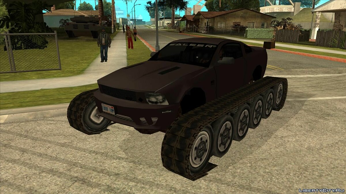 Funny car Ganzo Tank v.2.2 for GTA San Andreas