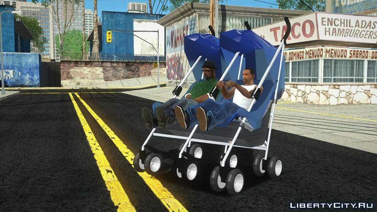 Funny car Double baby stroller for GTA San Andreas