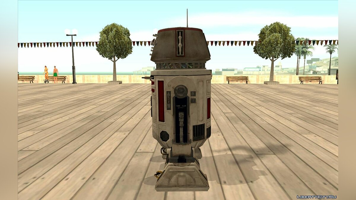 Funny car R5-D4 Droid from Battlefront for GTA San Andreas