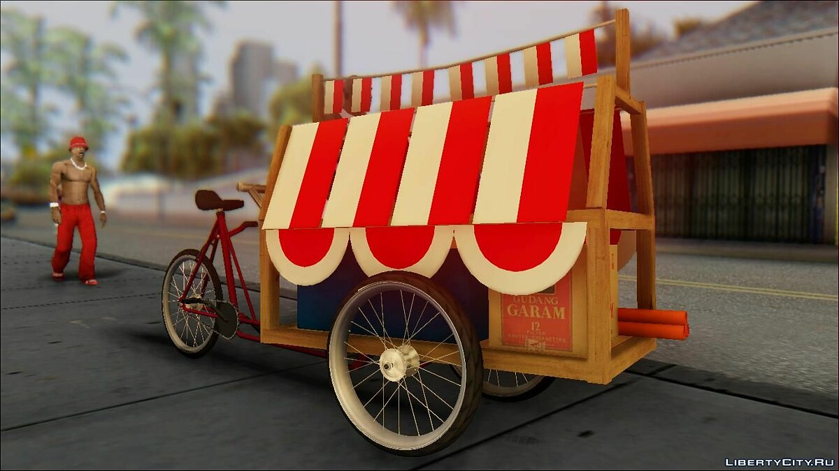 Funny car Gerobak Penjual Bendera Indonesia (Indonesian Flag Seller Cart) for GTA San Andreas