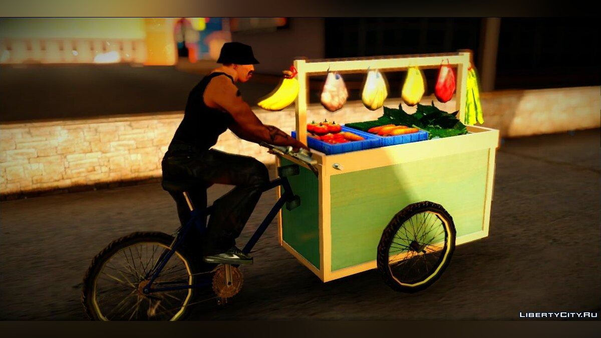Funny car Gerobak Sayur (Vegetable Carts) for GTA San Andreas