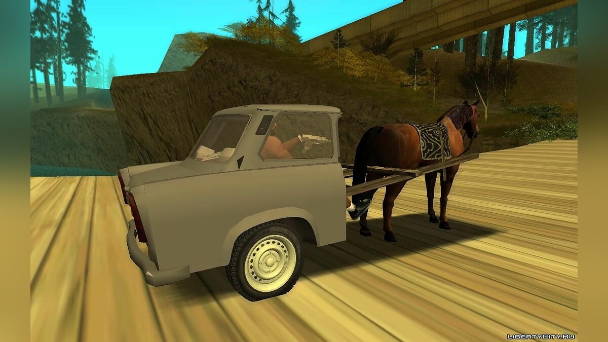Funny car Horse and body Trabant for GTA San Andreas