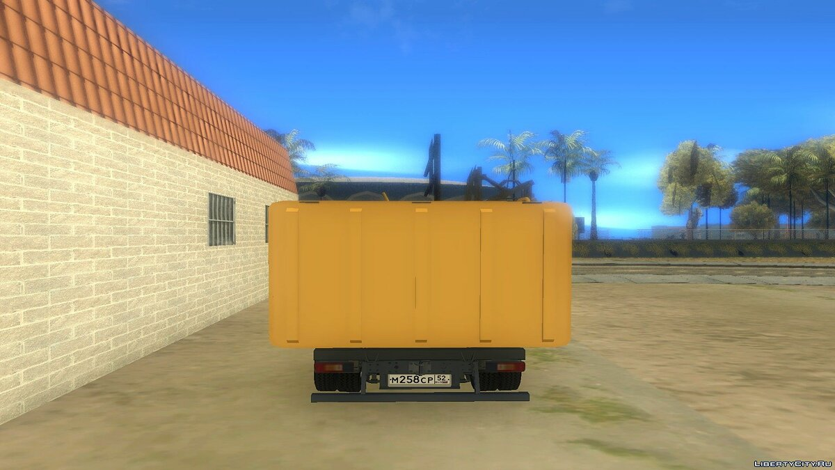 GAZ car Lawn Next Garbage Truck for GTA San Andreas