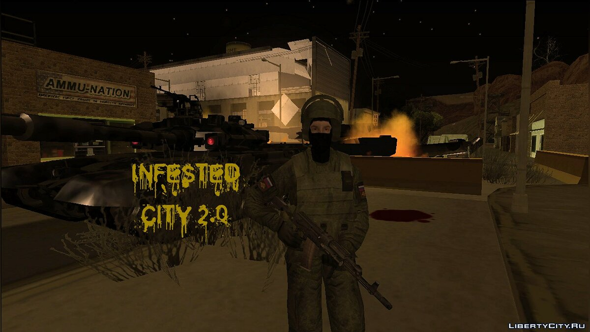 Global mod Infested city 2.0 for GTA San Andreas