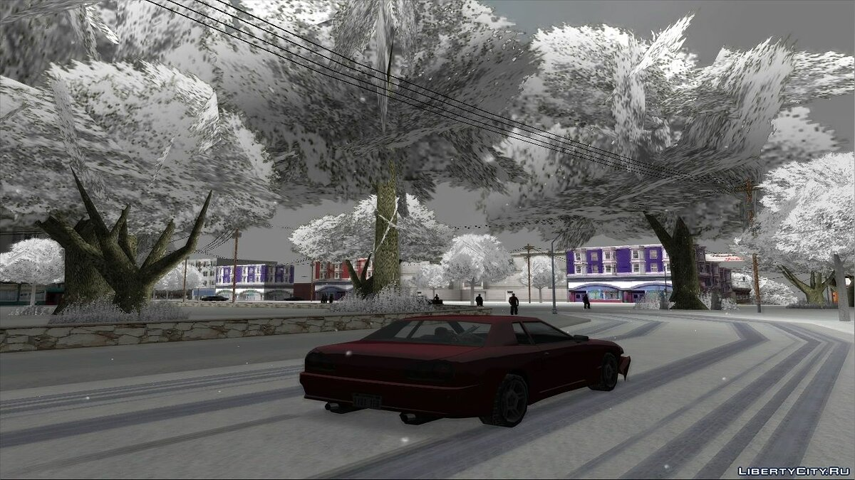 Global mod Snow-Andreas v5.0 - Winter mod for the weak PC for GTA San Andreas