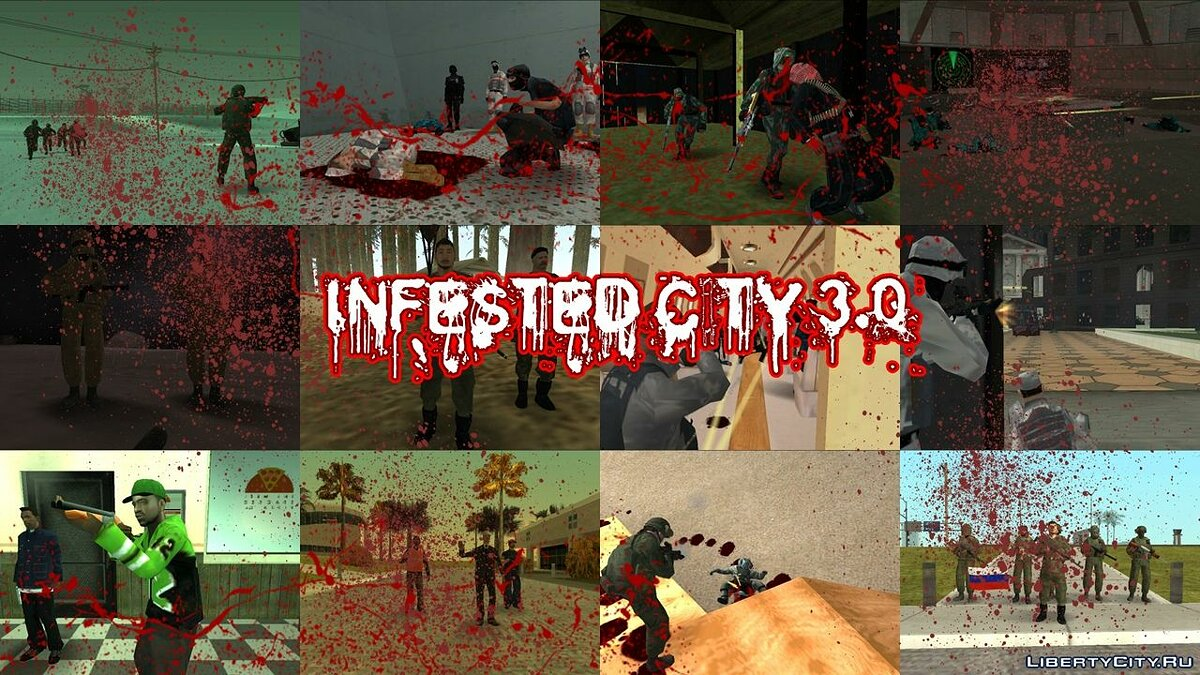 Global mod Infested city 3.0 for GTA San Andreas