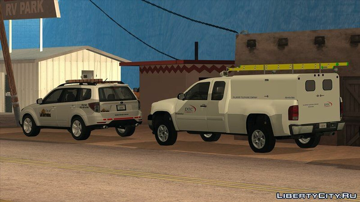GMC car GMC Sierra Dillimore 2009 Telephone Company for GTA San Andreas