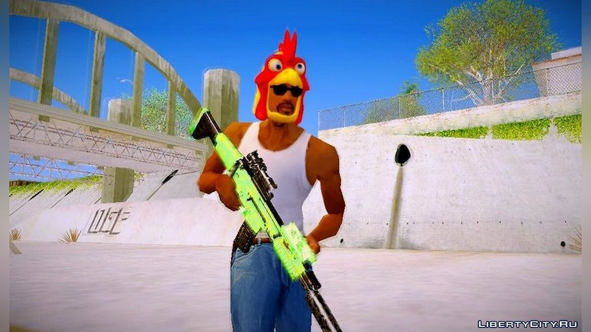 Hats Chicken mask from DLC