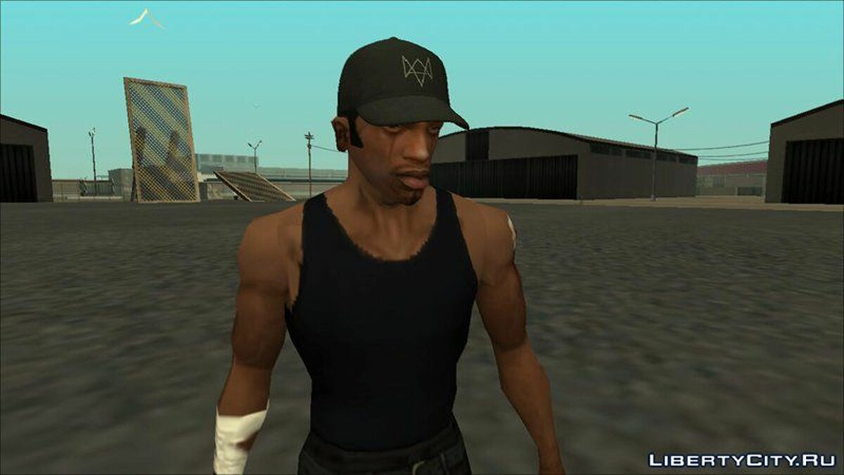 Hats Aiden Pearce Cap For Cj for GTA San Andreas