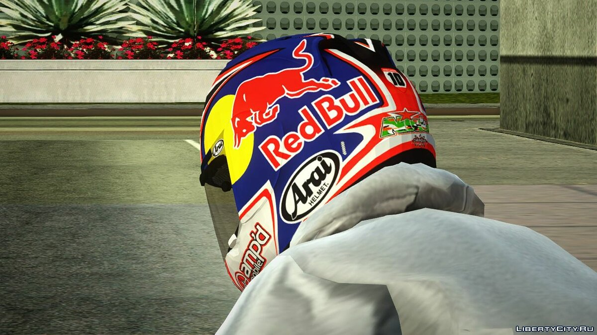 Hats Arai RX-7 Corsair Nicky Hayden Motorcycle Helmet for GTA San Andreas