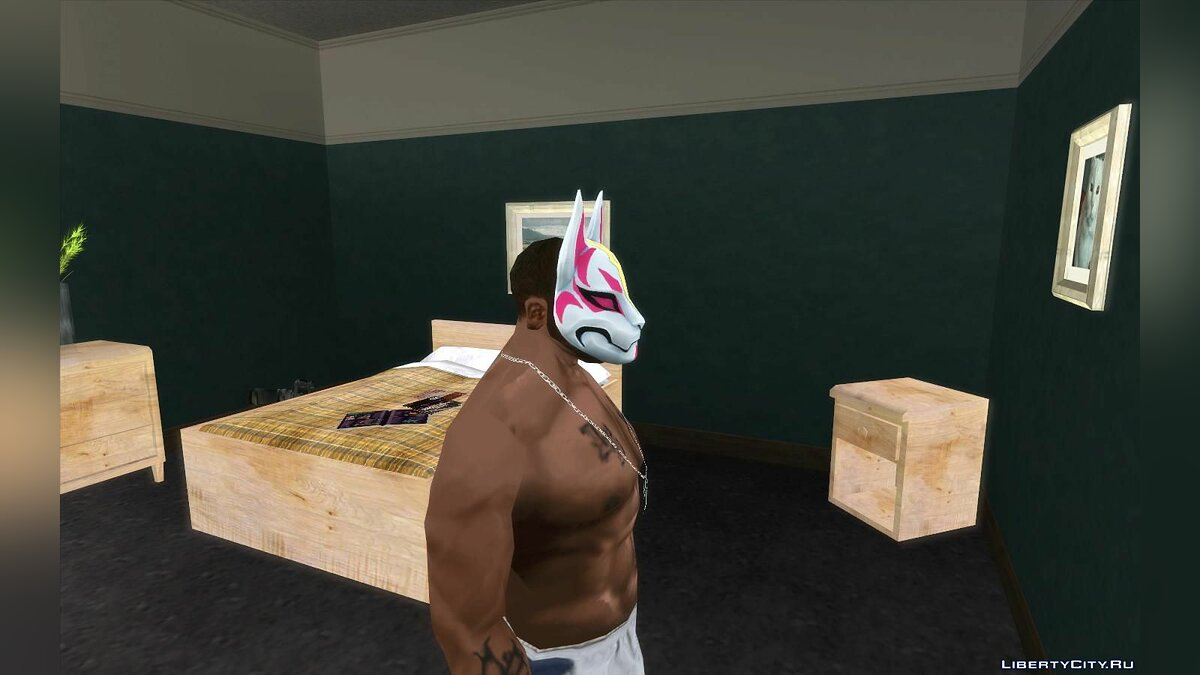 Hats The mask from the game Fortnight for GTA San Andreas