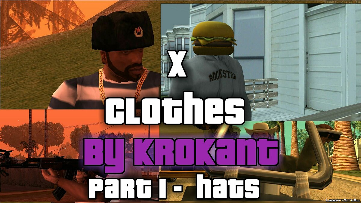Hats XCLOTHES - Part 1 (Head) for GTA San Andreas