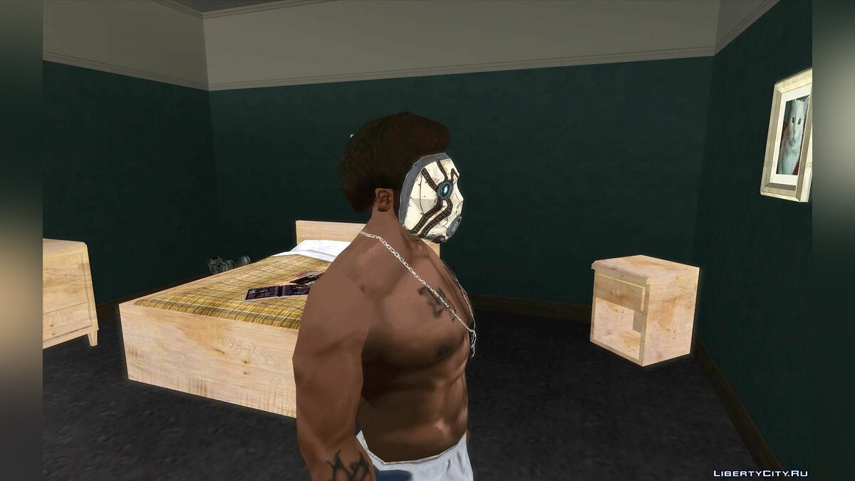 Hats Mask of the bandit from the game Borderland for GTA San Andreas